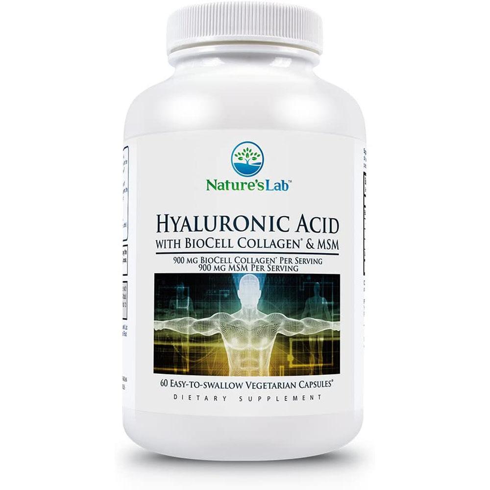 Natures Lab Hyaluronic Acid 히알루론산 60정, 1팩