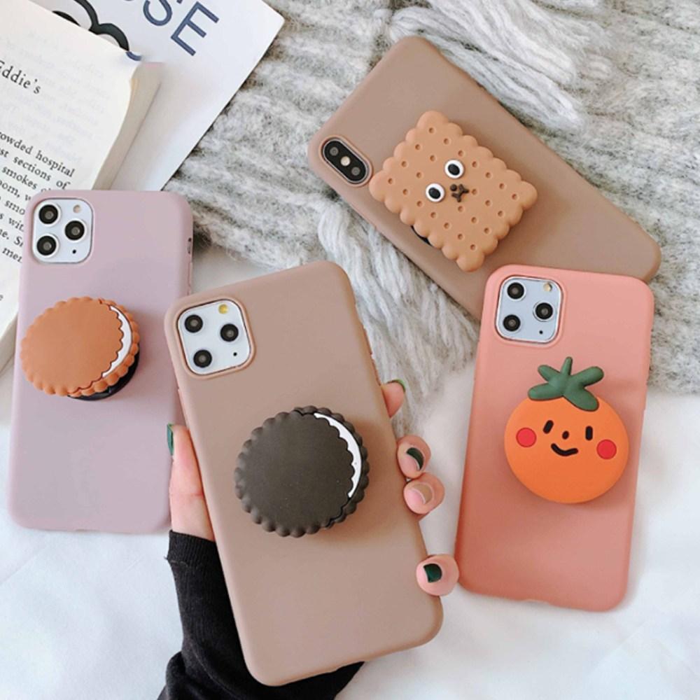 삼성 갤럭시 A30 A40 A50 A60 A70 A80 A31 A41 A21S 귀여운 간식 그립톡 핸드폰 케이스