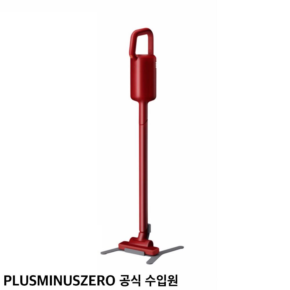 플러스마이너스제로 +-0 무선 청소기 Y010 클리어 레드 (국내 정식 수입)