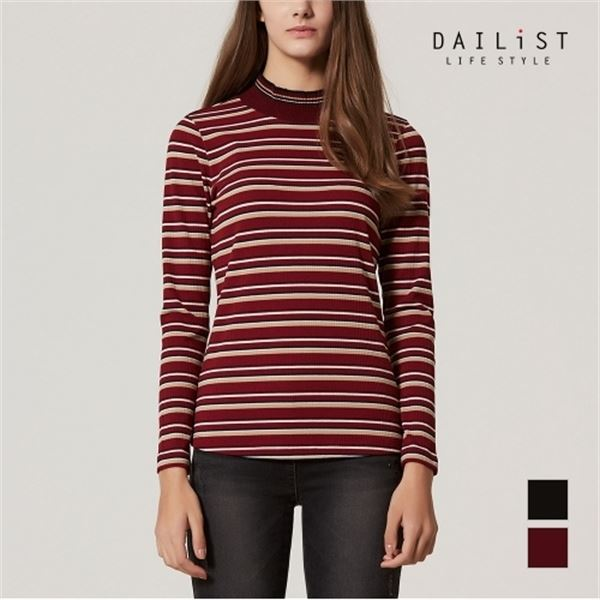 올리비아로렌 선염 스트라이프 티셔츠 2MDEALTW9241