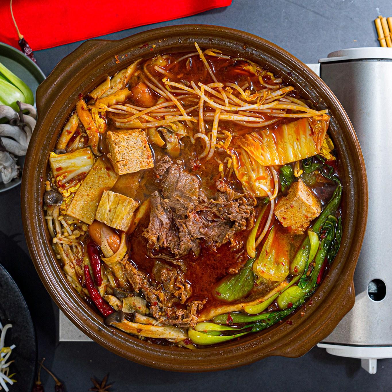 월드킷 훠궈 마라탕 밀키트 (소고기 300g 수제 포두부), 1.1kg, 1세트