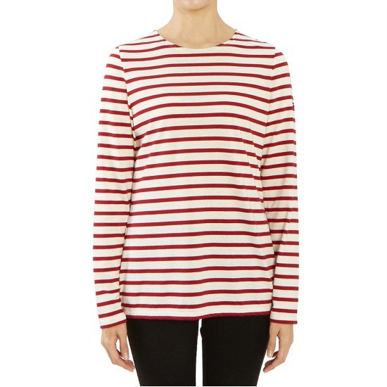 세인트제임스 밍콰이어 스트라이프 0237 OU 여자 긴팔티셔츠