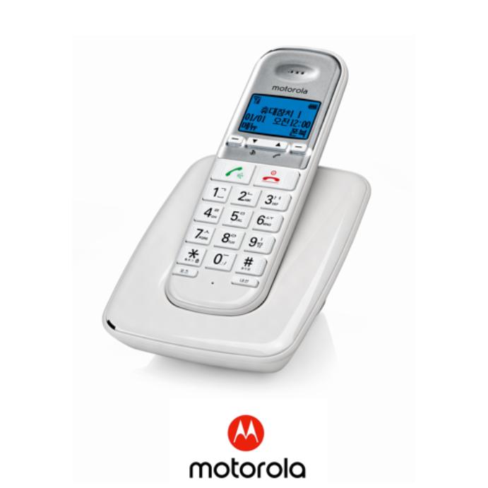 모토로라 디지털 한글지원 무선전화기 S3001A 화이트, S3001AW