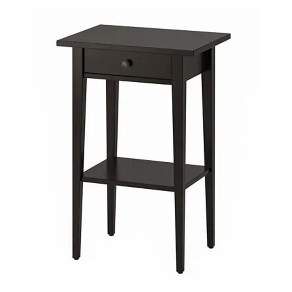 이케아 헴네스 북유럽 침대 거실 미니 협탁 사이드 원목 모던 테이블, 블랙