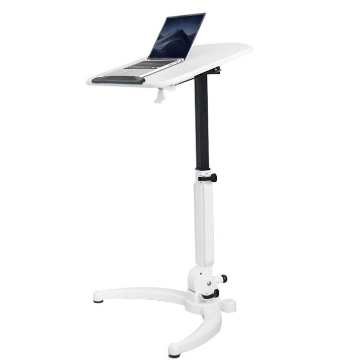 키높이 높이조절 스탠드 스탠딩 철제책상 노트북 책상, 화이트