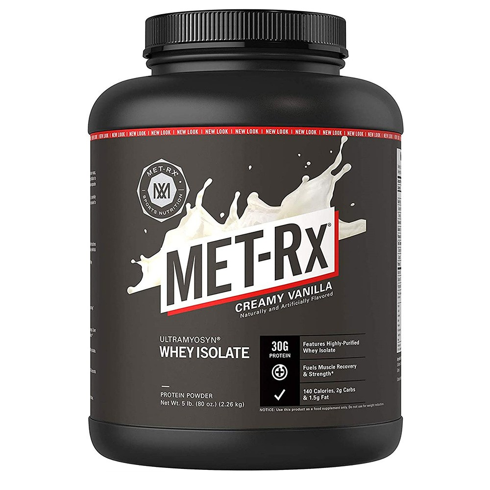 MET Rx 메트 알엑스 크리미 바닐라 웨이 프로틴 파우더 Ultramyosyn Whey Protein Powder 80oz 2.26kg, 1개, 1개