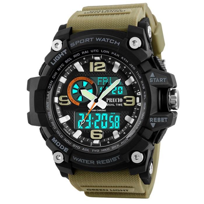 프레시오 남자전자손목시계 군인 군용 방수 N83