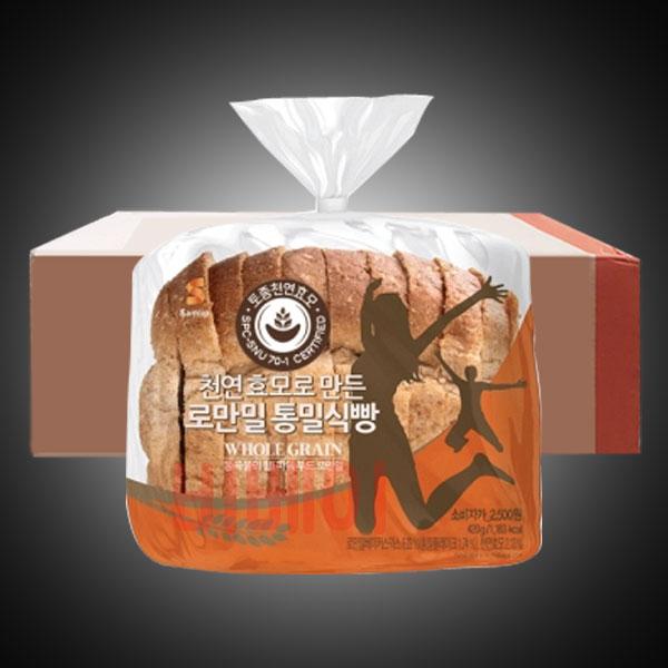 삼립 천연효모로 만든 로만밀 통밀 식빵 420g x 10봉