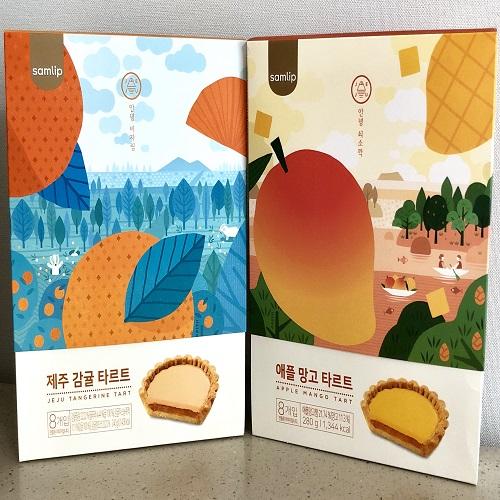 (주)에스피씨삼립 제주 감귤 애플망고 타르트 선물세트 과자, 1set