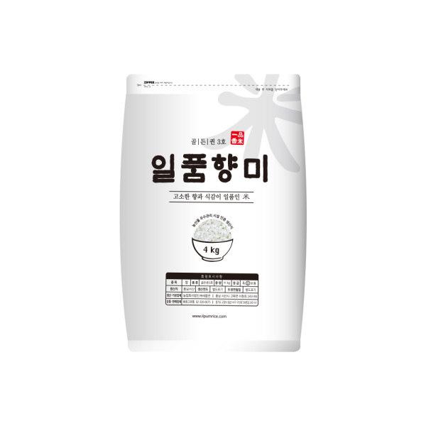 기타 2018년햅쌀 일품향미 골든퀸 3호 백미쌀 4kg 상세 설명 참조