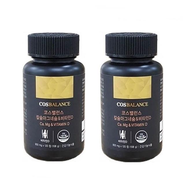 코스밸런스 [1+1] 칼슘 마그네슘 비타민D 2개월분 해조칼슘 뼈에좋은영양제, 240정, 900mg
