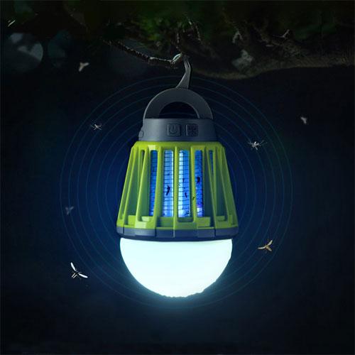 캠핑랜턴 가정용 모기퇴치기 LED 해충킬러, 그린