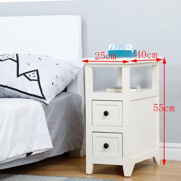 침대옆선반 이케아 좁은 미니테이블 협탁, AD_기본