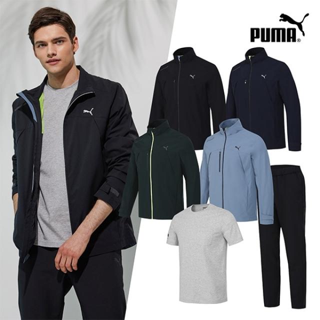 [PUMA]NEW 푸마 남성 윈드셀 트랙수트+티셔츠 3종세트 4컬러 택1
