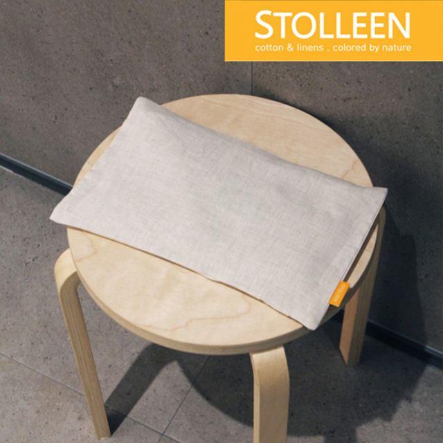[천삼백케이] [슈톨렌] [슈톨렌 STOLLEEN] 네추럴 린넨 숯베개(좁쌀베개), 단품