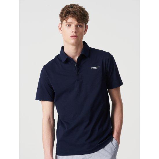 빈폴스포츠 남성 네이비 베이직 피케 반팔 티셔츠 (BO0342D52R)