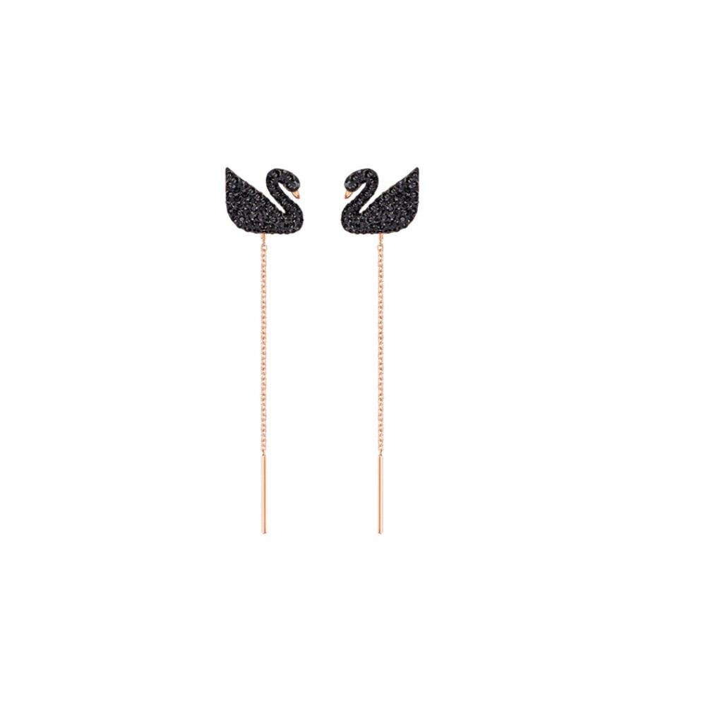 [정품]스와로브스키 Iconic Swan long 귀걸이 5351805