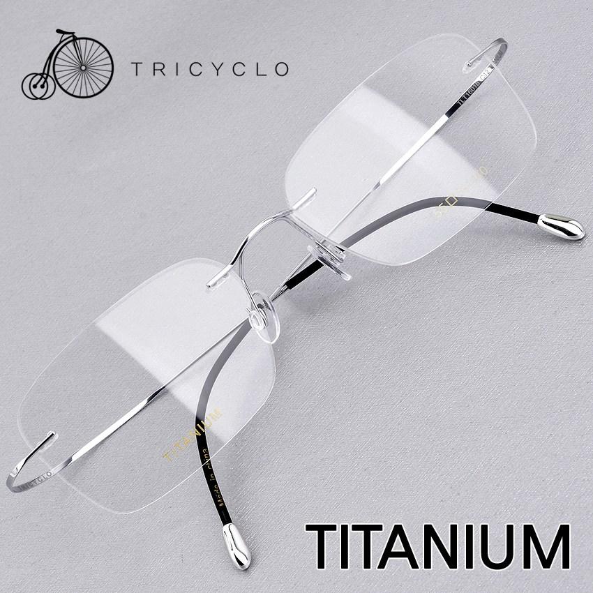 트리시클로 명품 형상기억합금 초경량 IP도금 티타늄 안경테 TLT16016-C12(55)