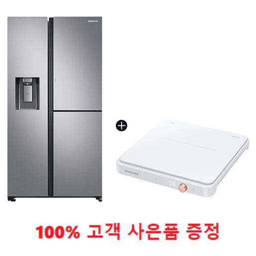 사은품증정/양문형 3도어 얼음정수기 냉장고 805L 정수필터 무상제공 + 1구 인덕션 패키지 (RS80T5190SLF+NZ31T3703PW) 1666-4175