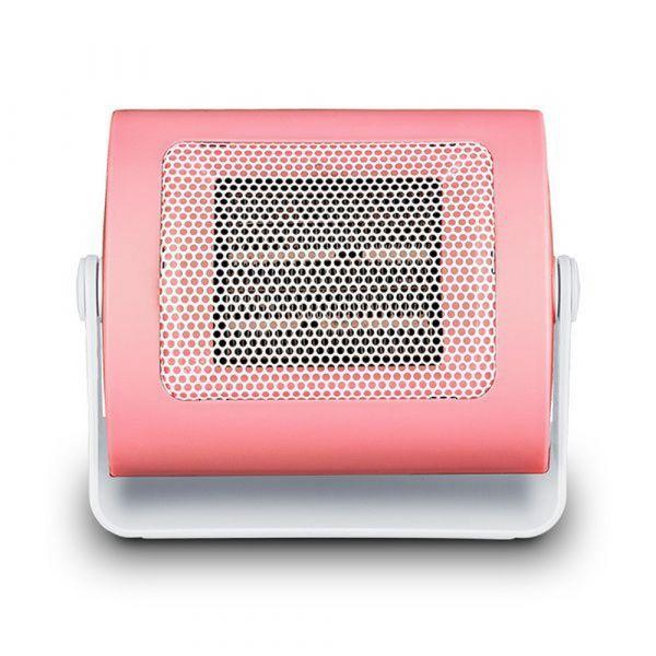 가성비해외직구 캠핑용 초경량 미니 온풍기 500w 공부방 사무실 휴대용 감성캠핑 소형온풍기, 핑크, 기본
