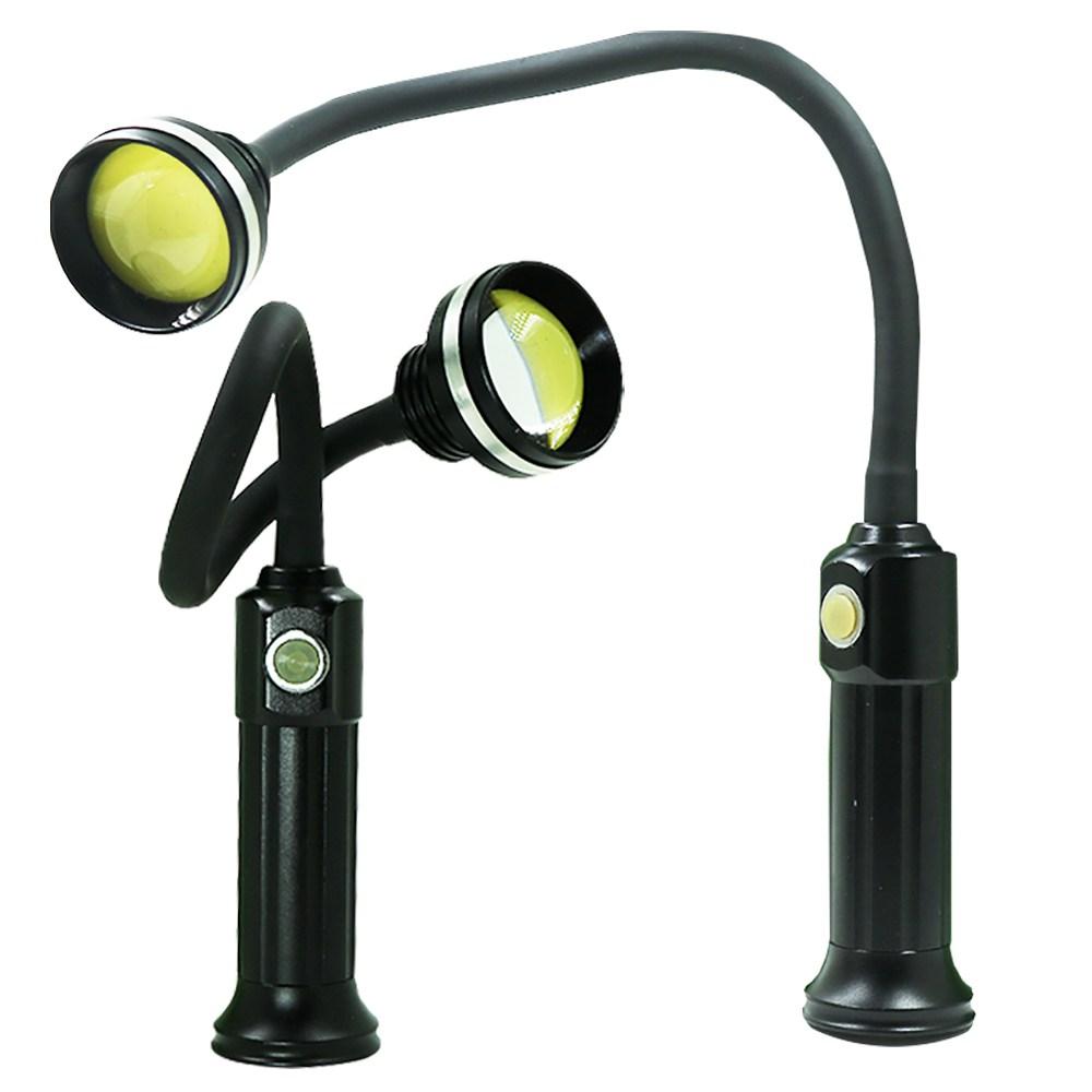 LED 충전식 자석 랜턴 작업등 후레쉬 자바라 COB 1개