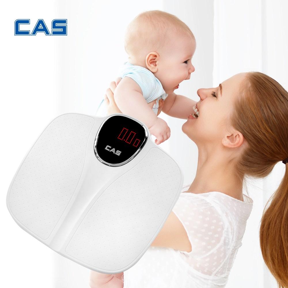 카스 유아 아이 아기 안아서 애견 체중계 BHE-100, 화이트