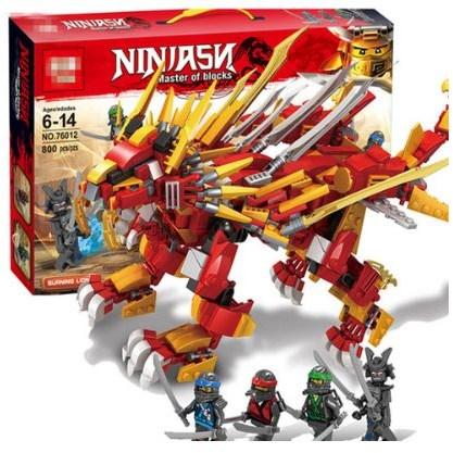 [에이치비] 레고닌자고 불꽃 레드드래곤과 닌자 중국레고블럭 76012, 닌자고 레드드래곤 1개