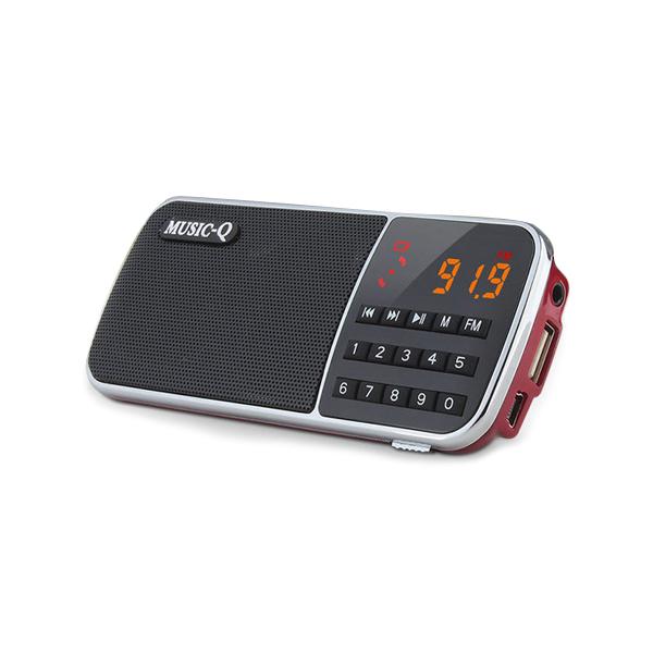 뮤직큐 BK-1007 효도라디오 충전기 음원100, 레드, BK-1007 플레이어+2.0A 충전 어댑터