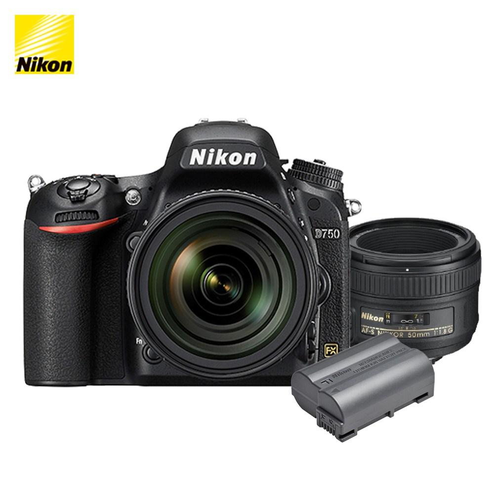 니콘 D750 DSLR, 니콘 D750 + AF-S 50mm f/1.8G + EN-EL15b