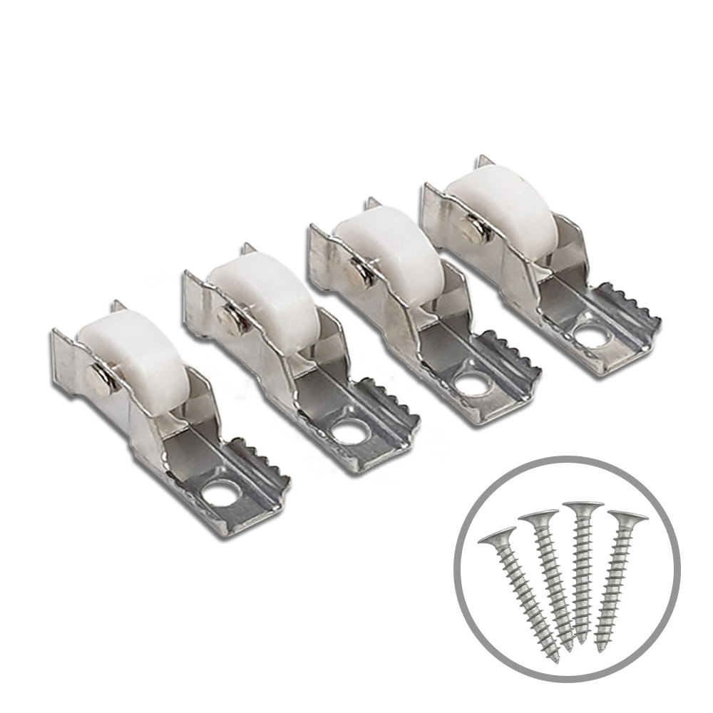 청정드림 망바퀴 바퀴롤러 방충망 샷시 바퀴 셀프교체 부자재 하이샷시용 4개 피스포함