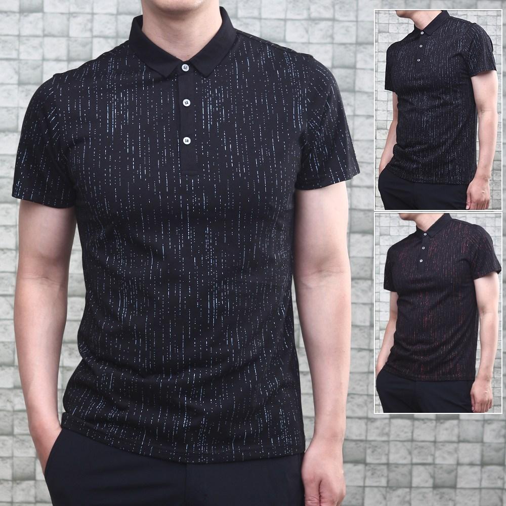 여름 남성 반팔 카라 면 티셔츠 RET88262 (POP 1802667183)