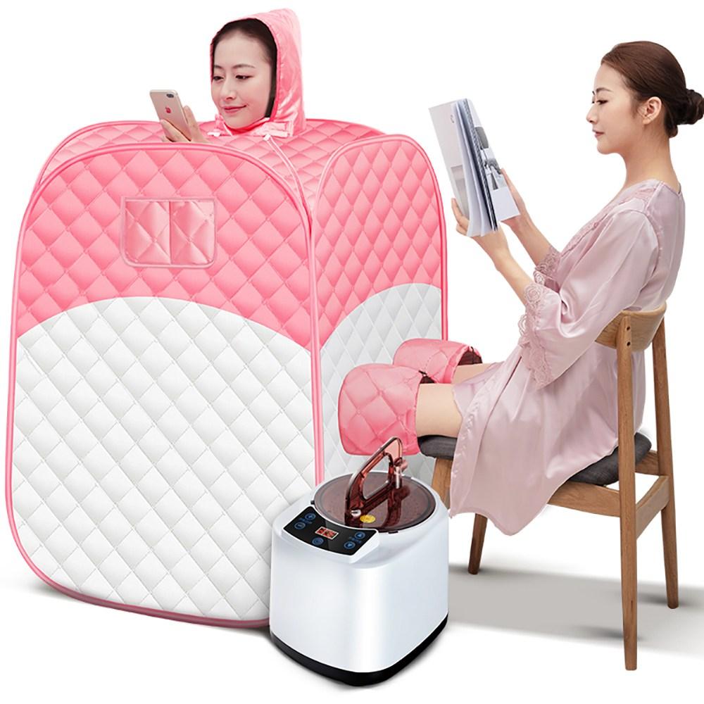 가정용 접이식 찜질기 한증막 1인 개인용 홈 사우나 실내 전신 찜질방, 옵션2
