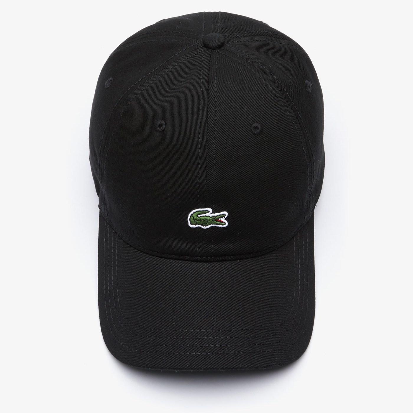 라코스테 볼캡 모자 가죽스트랩 크록 RK4714 블랙