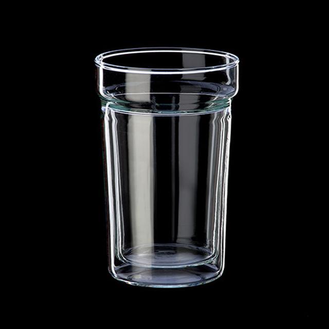 시맥스 이중유리컵 내열유리 유리잔 맥주잔 300ml 2개, 단일색상