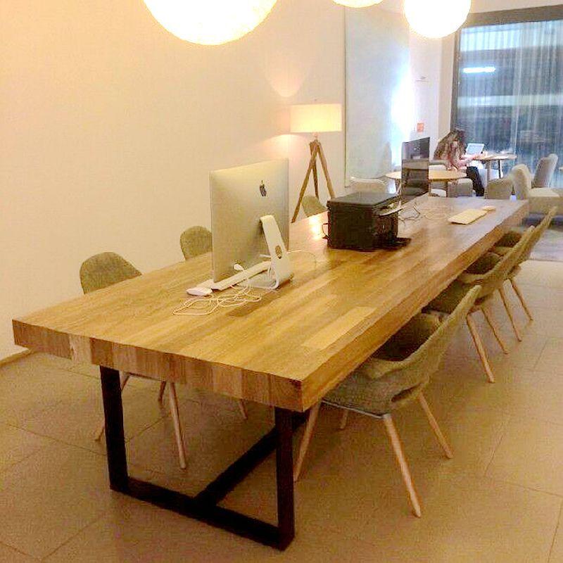 소형 회의 테이블 심 플 현대 나무 식탁 4 인 - 10 인 직사각형 사무 용 테이블 큰 테이블 작업대 120 * 60 * 75 목판 5 센티미터, 상세페이지 참조