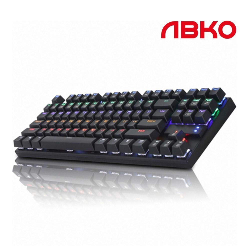 앱코 HACKER K640T 텐키리스 유선키보드, 블랙적축
