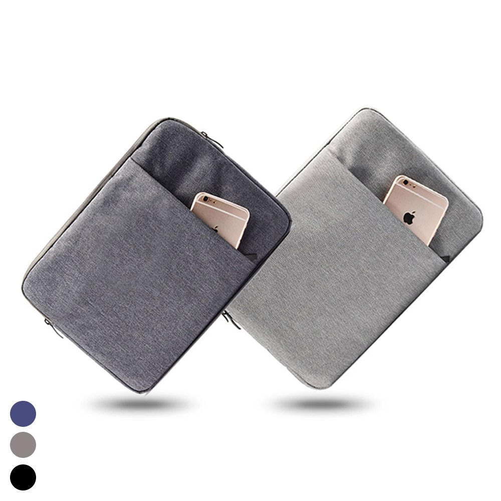 헤이맨 갤럭시탭 S7 플러스 11 12.4 태블릿 극세사 포켓 파우치, 그레이