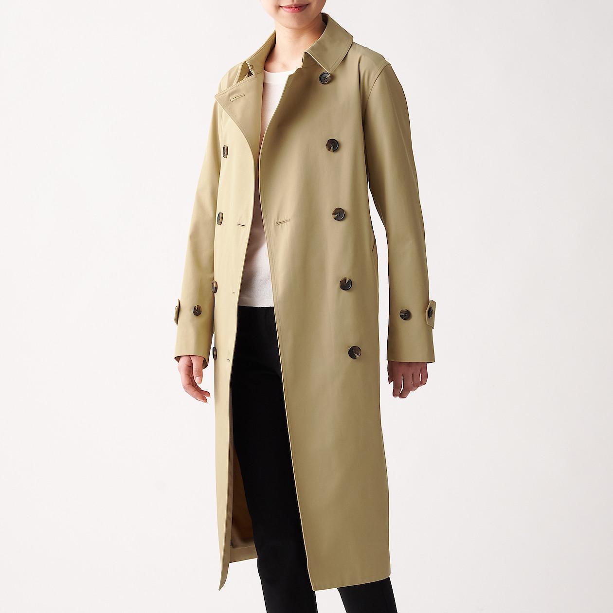 무인양품 여성용 발수 면 혼방 트렌치 코트 BDE05A0S
