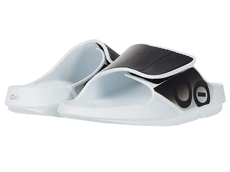 [미국정품] 341985 우포스 남성 슬리퍼 OOFOS OOahh Sport Flex - White/Black