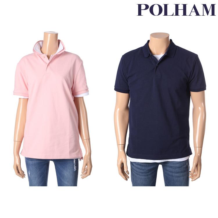 폴햄 남여공용 베이직 반팔 카라 티셔츠