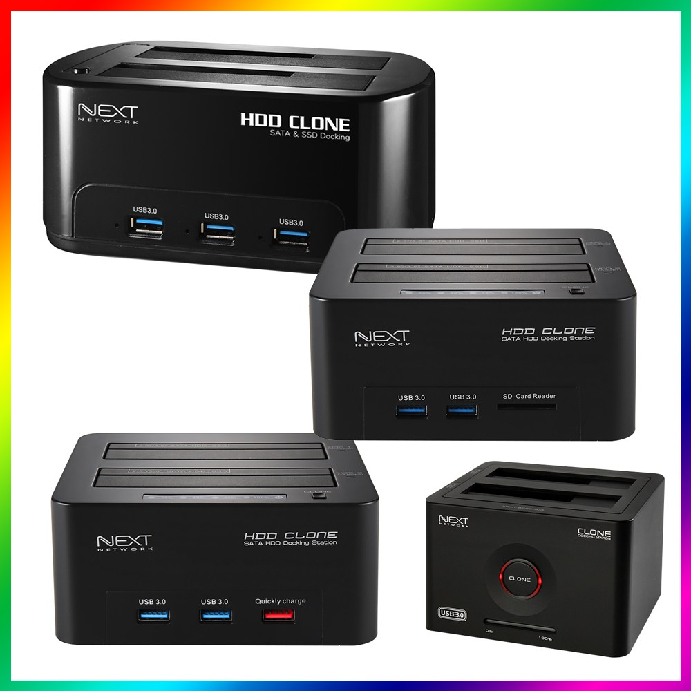NEXT 외장 하드 HDD 도킹 스테이션 2베이 클론 USB 허브 카드리더기 퀵차지, 선택05.NEXT-651DCU3, 선택05.NEXT-651DCU3
