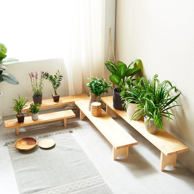 동화속나무 원목 화분 정리대