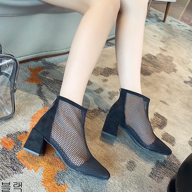 굿데이 컴퍼니 여성 데일리 여름 워커 부츠 청키힐 앵글신발 lMDX03