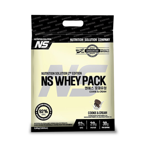 뉴트리션스토어 NS 포대유청 WPC 쿠키앤크림 유청단백질가루 단백질쉐이크 프로틴, 1팩, 2kg
