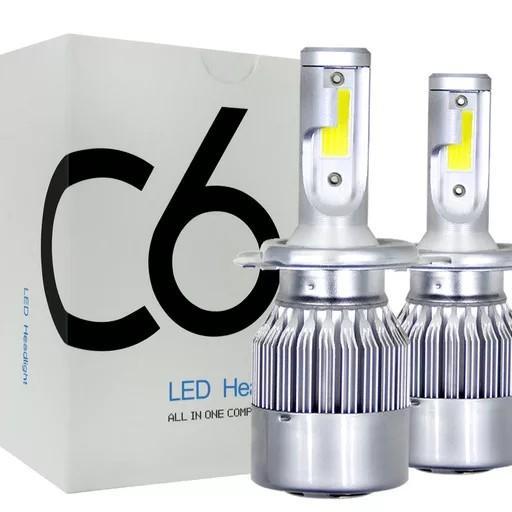 C6 LED 헤드라이트 (H7 6000K) 자동차 전조등 (좌우 1세트), 1팩, H7타입