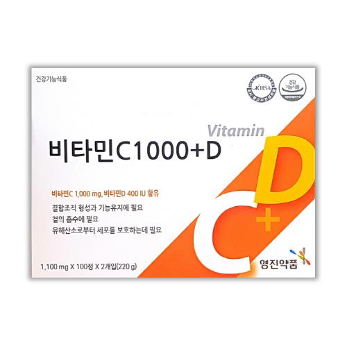 영진약품 항산화 비타민C1000플러스D 200정(6.5개월분), 1박스, 200정