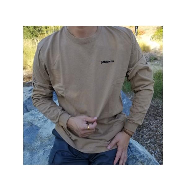 [이라운드몰]파타고니아 P-6 로고 리스판서빌리 오가닉 긴팔 티셔츠 3종
