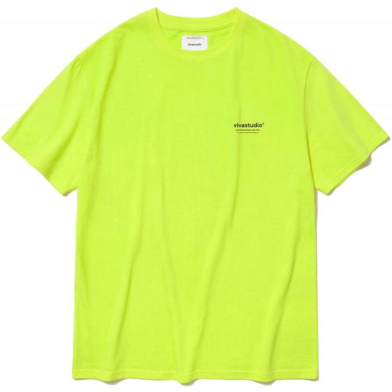 (사이즈M) [비바 스튜디오] VIVASTUDIO 20SS LOCATION SHORT SLEEVE JS (Lime Yellow M)