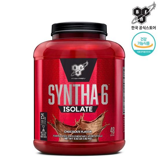 비에스앤 신타6 아이솔레이트 초코맛 48회분 1.82kg 단백질 헬스 보충제, 상세설명 참조, 없음
