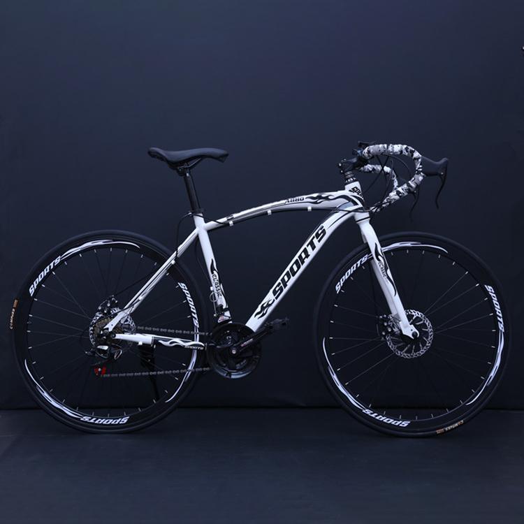 엔라인 남녀공용 21단 26인치 로드자전거 멀키컬러A780, 163cm, 화이트